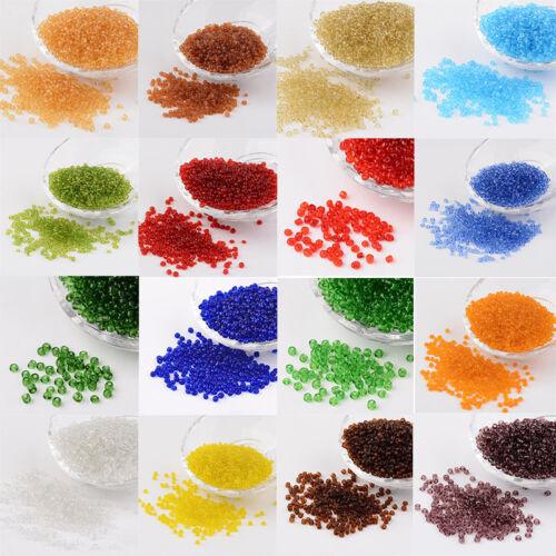 1 Pound 8//0 3mm Transparent Round Glass Seed Beads Craft  about 10000pcs//pound