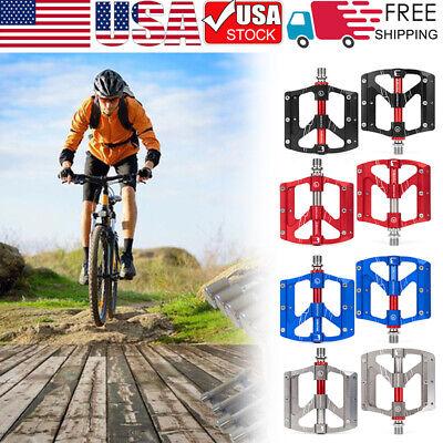 "9//16/"" Aluminum Pedals Cycling Mountain MTB Bike 3 Bearing Flat-Platform Pedal"
