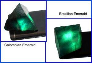 Brazilian & Colombian Emerald 800 Ct/2 Pcs Natural Gemstone Polished Rough