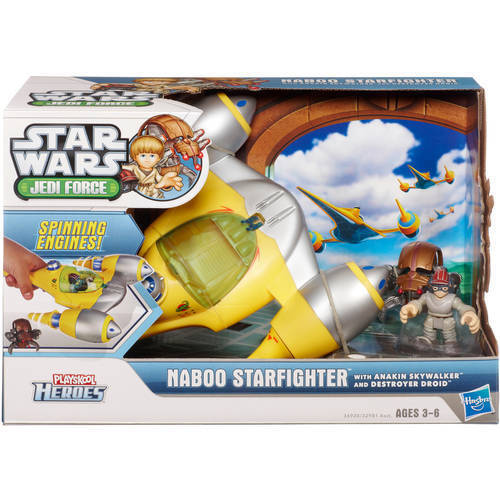 Stern Wars Galactic Heroes Naboo Fighter vehicle Spielzeug & 2 Wirkung figures set Masse