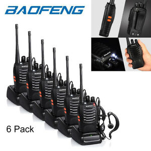 6x-Baofeng-BF-888S-Two-Way-Radio-Walkie-Talkie-UHF-400-470MHz-Handheld-Earbuds