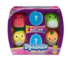 KellyToy Squishmallow Squishville Mystery Set Mini  6-Pack Fruit Squad NWT plush