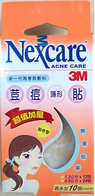 3M Nexcare Acne Care Pimple Zit Stickers Patch Set Of 36 Pieces 100% Authentic