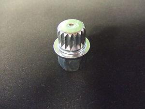 vw audi wheel lock key   nineteen splines ebay