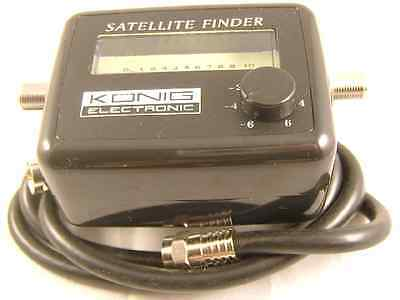 Konig Sat Finder Satellite Signal Meter For Satellite Dish Alignment Sky Freesat