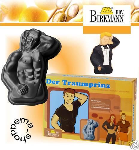 Backform Traumprinz Traummann Motivbackform für Frau und Mann RBV Birkmann