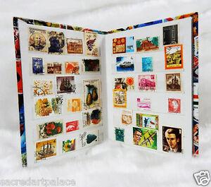 Premier-Stamp-Album-stock-Book-500pcs-Different-Old-Vintage-World-Stamps-Lot