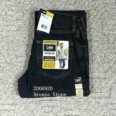 Lee Men/'s Regular Fit Straight Leg Sits Waist Jeans Blue Pepperstone NWT 2008944