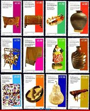 11-12 Mexico 2011 - FOLK ART, DEFINITIVE STAMPS MNH, SET COMPLETE