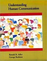 Understanding Human Communication By George Rodman And Ronald B. Adler Paperback