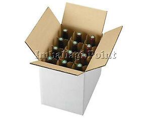 Stable 15 Pezzi Scatola Cartone Spedizione 12 Bottiglie - Vino - Liquori Con Separatore Brillant