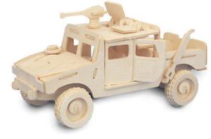 4x4 Jeep Kit De Modélisation En 3d En Bois Modèle Jigsaw Puzzle-afficher Le Titre D'origine à Tout Prix