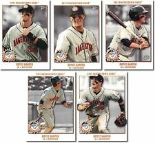 "BRYCE HARPER 2011 HAGERSTOWN SUNS ""5"" CARD ROOKIE LOT/SET! 2015 N.L. MVP!"