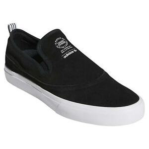 adidas-ORIGINALS-MENS-MATCHCOURT-SLIP-ON-TRAINERS-SHOES-SNEAKERS-BLACK-WHITE-NEW