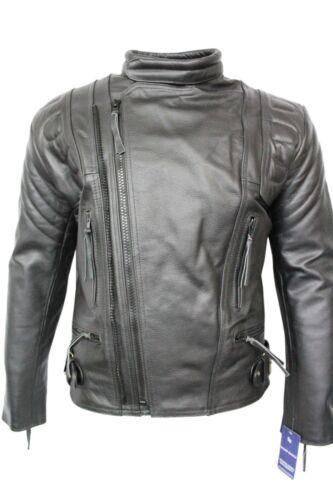 Biker King Men/'s Jacket Real Cowhide Leather Padded Armoured Police Terminator 3