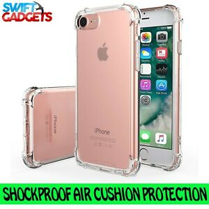 buy popular cdb54 27151 Details about For iPhone 8 Case Shock Proof Crystal Clear Soft Silicone Gel  Bumper Cover Slim