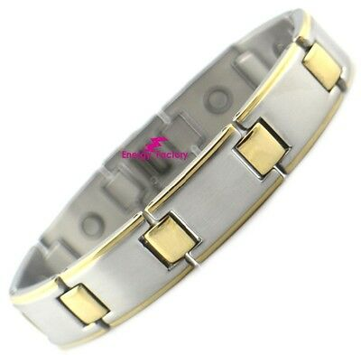 Premium STRONG Gold Bio Magnetic Healing Bracelet - ARTHRITIS PAIN RELIEF