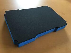Koffereinlage-Hartschaum-f-Tanos-FESTOOL-MINI-systainer-T-Loc-grau-blau-30mm