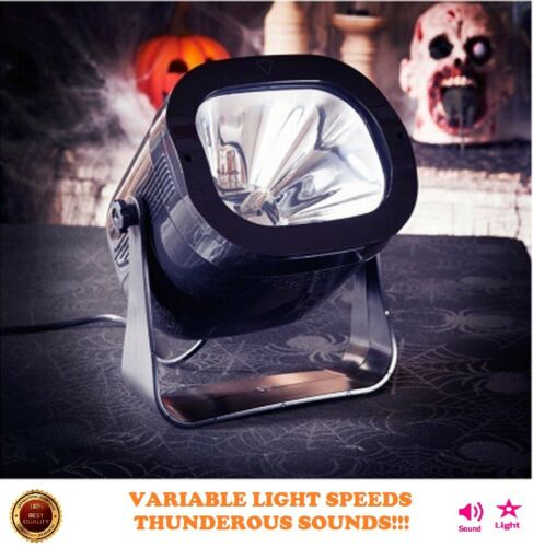 Halloween Strobe Light Spooky Thunder SpecialEffects Sound Party Prop Decoration