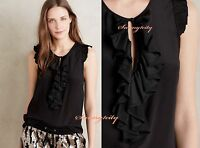 Sz 16 Anthropologie Hermine Silk Blouse By Maeve Black 100% Silk, Adorable