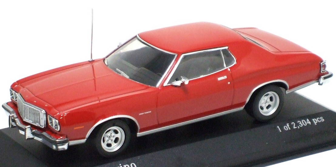 Ford Torino 1976 rouge 1 43 400085200  Minichamps