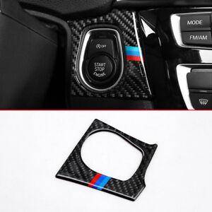 Carbon-fiber-Innen-Zubehoer-Motor-Starter-aus-Schalter-Schutz-fuer-BMW-F30-F34-GT