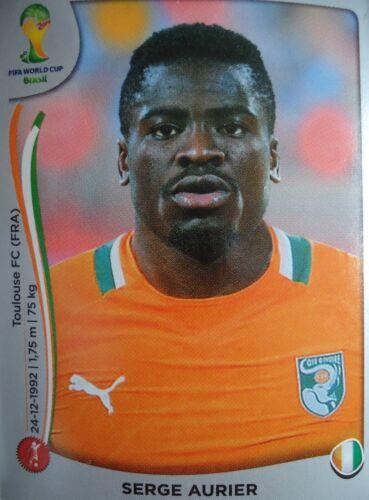 Panini 226 Serge Aurier Elfenbeinküste FIFA WM 2014 Brasilien