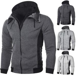 Men-039-s-Autumn-Winter-Hoodie-Hooded-Sweatshirt-Coat-Jacket-Outwear-Jumper-Sweater