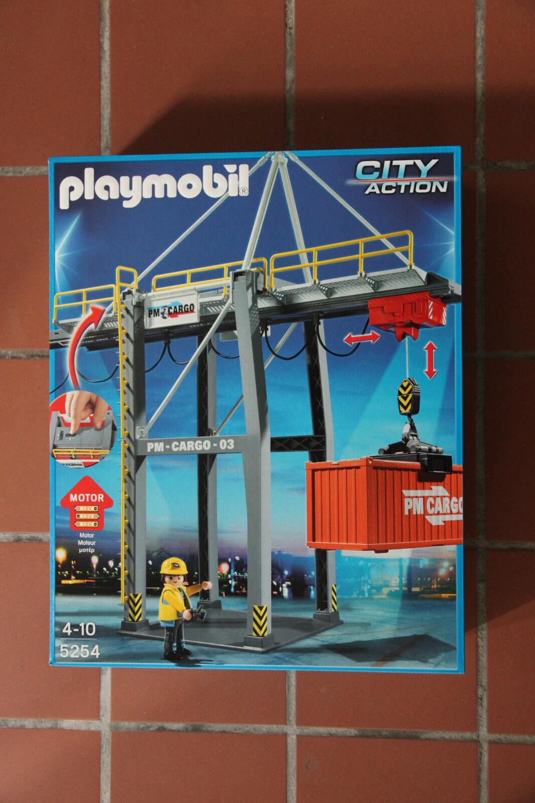 Playmobil City Action Grue Portique électrique à conteneur 5254