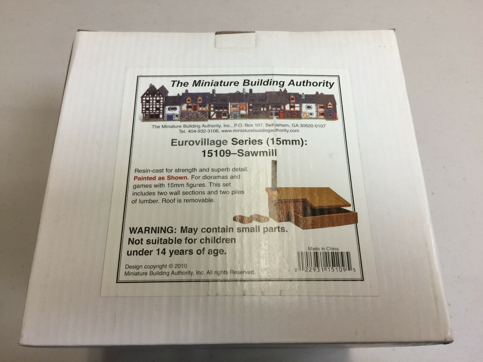 Miniature Buidling Authority - Eurovillage 15mm Sawmill Boxed Boxed Boxed  70ef5d