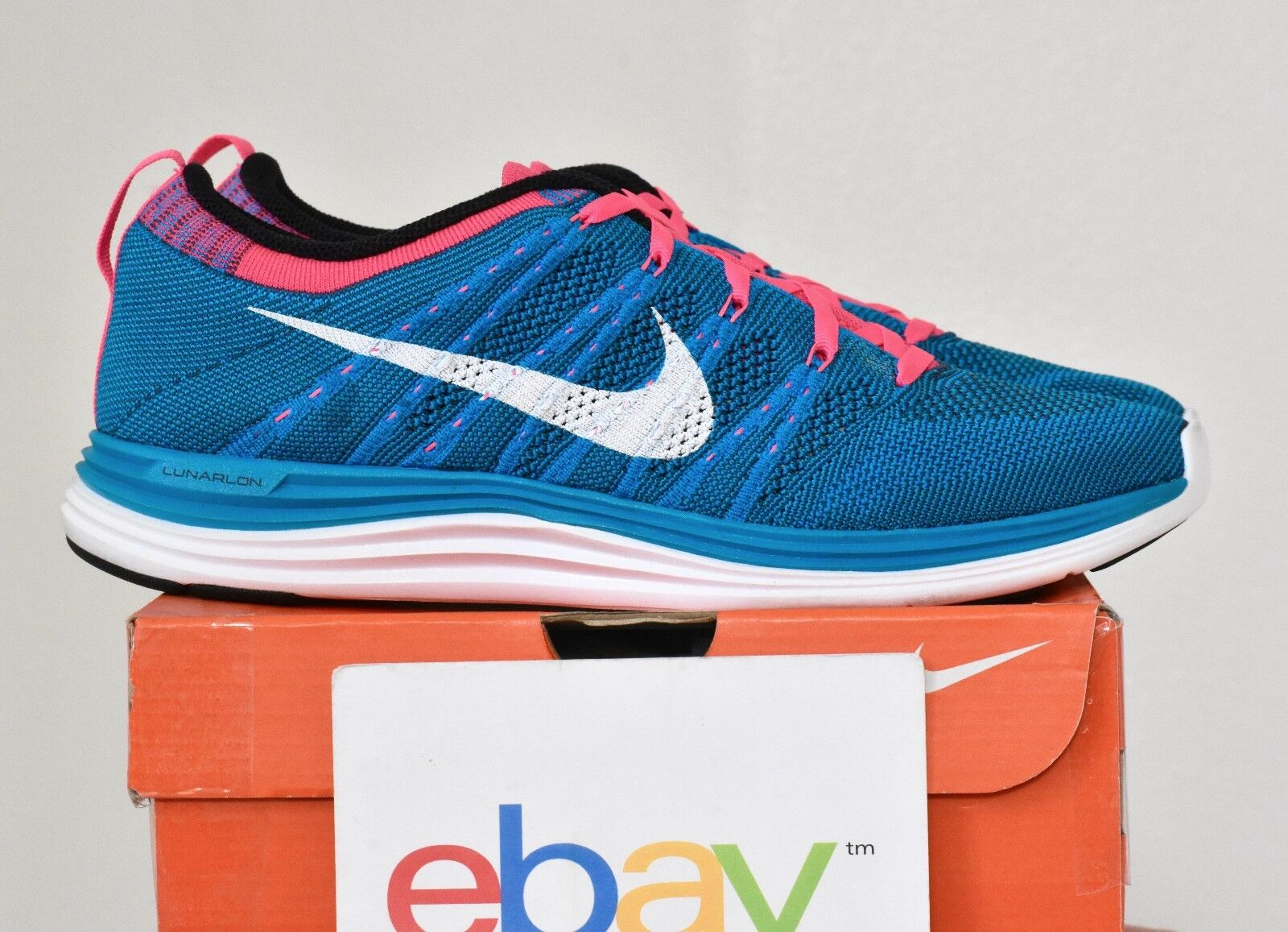 New Mens Nike Flyknit One+ Neo Turquoise Blue Sizes 9-14 pink 1 free 554887 414