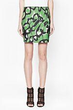 NWT French Connection FCUK $148 Animal print skirt Green Black Multi sz S 4 - 6