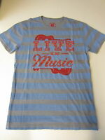 Lucky Brand Men's Large T-shirt live In Music Blue/gray/red Guitar $39.50