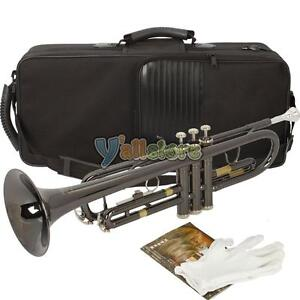 Brand-new-Bb-Trumpet-Black-Nickel-Plating-with-Mouthpiece-High-Quality