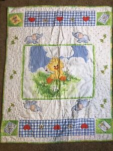Baby Turtles /& Friends Crib Quilt Pattern Baby Girl/'s Quilt