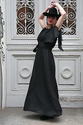 Bel Vestito Lungo Moda Sera 70er True Vintage 70´s Women Dress Long Black- Prezzo Pazzesco