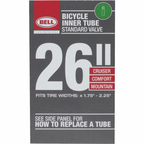 "SCHRADER VALVE UNIVERSAL BICYCLE INNER TUBE 1.75/"" TO 2.25/"" 26/"""