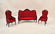Victorian Living Room Parlor Set walnut dollhouse   1/12 scale CLA91712  3pcs