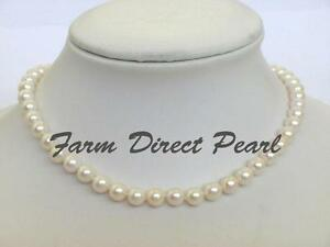 16-034-Inch-Choker-Cultured-Freshwater-7-8mm-Round-White-Pearl-Strand-Necklace