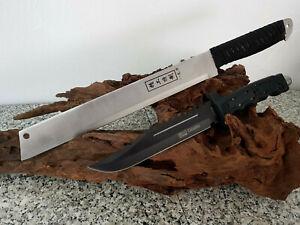Le Meilleur 2er Machette + Busch Couteau Bowie Hunting Couteau Machette Macete Cauteau Coltello-afficher Le Titre D'origine Rendre Les Choses Commodes Pour Le Peuple