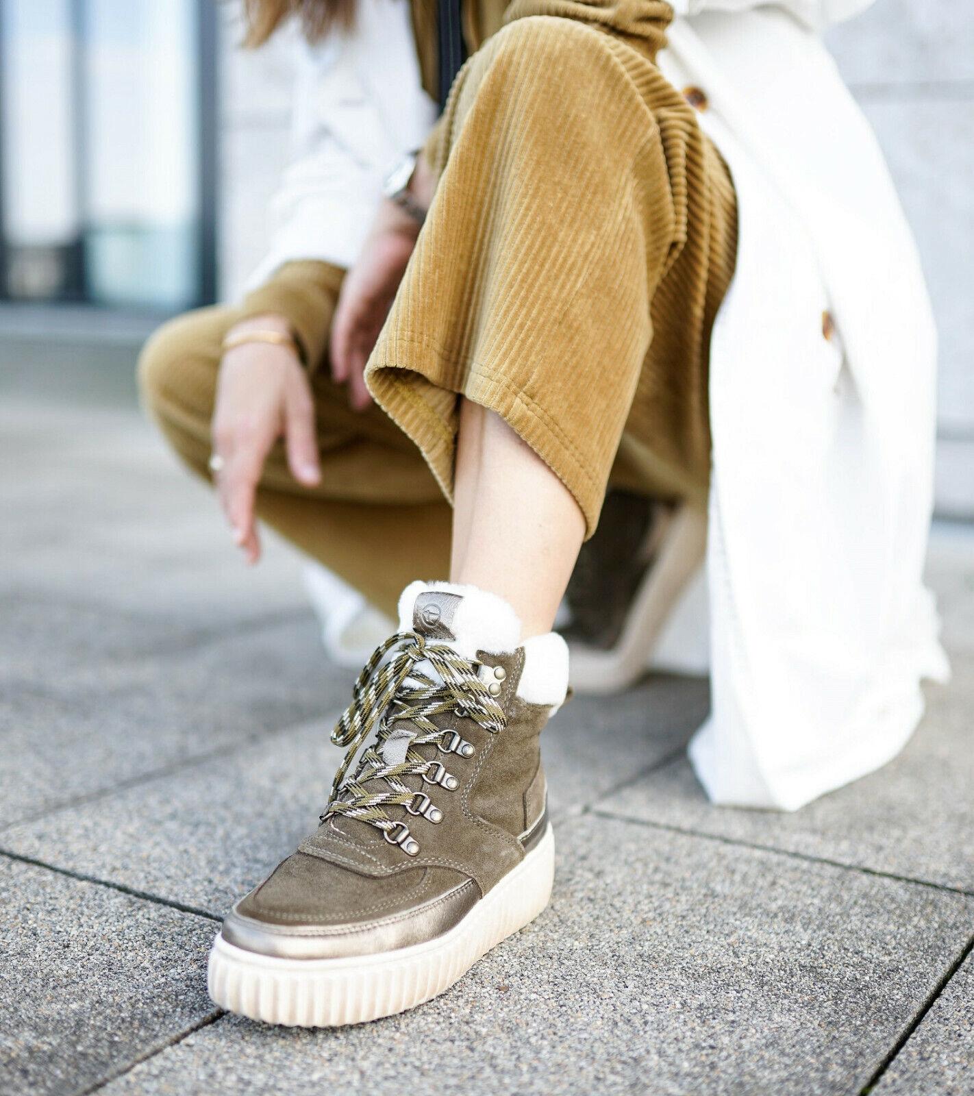 Tamaris Halbschuh Blogger Trend snow Stiefel Stiefeletten derbe Sohle sportlich