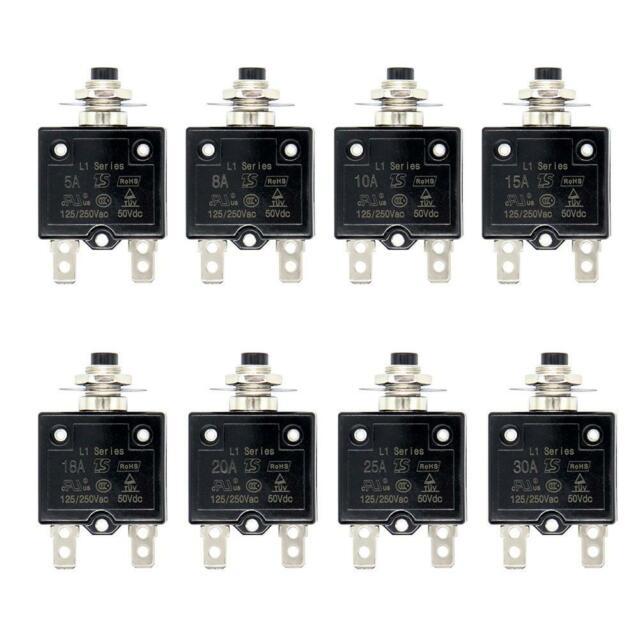 2X 30Amp Circuit Breaker Thermal Breaker Thermal Protect Switch Generator