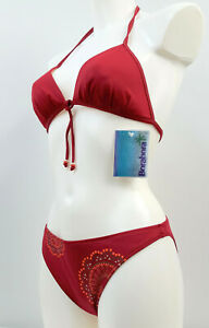 BORABORA Damen Bikini-Set Neckholder 2-teiler Badeanzug Gr. 36, 40, Weinrot