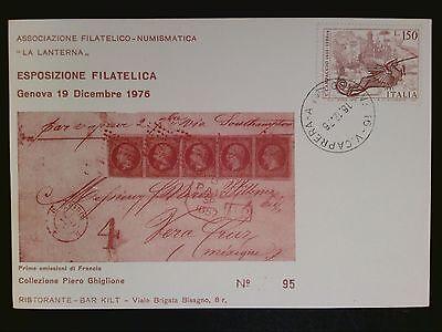 Italien Esposizione Filatelica Genova 1976 Drache Dragon Sonderkarte C8775