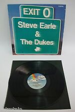 Steve Earle And The Dukes - Exit 0 | MCA 1980 | LP: Near Mint | Cleaned Vinyl LP