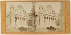 Genoa Chiesa Da L Annuncio Nascita Italia Foto Noack Stereo Vintage Albumina