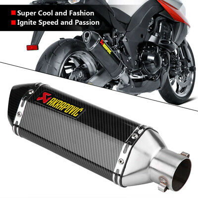 New Universal Motorcycle Short Exhaust Muffler Silencer Slip On W//DB Killer 51mm