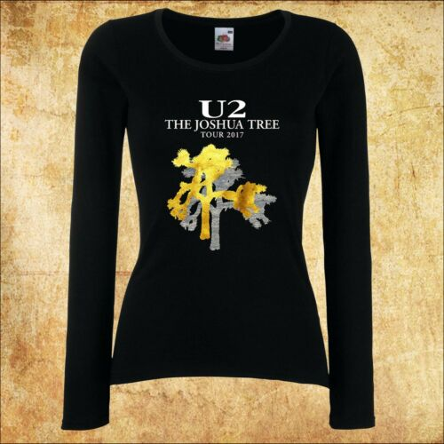DAMEN WOMEN LADY BLACK T-SHIRT U2 The Joshua Tree 1 Rock LANGARM//KURZARM