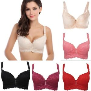 be029e27c8f59 US Women Plus Size Push Up Lace Strap Bra Underwire Padded Lingerie ...