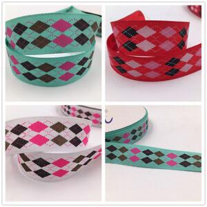 5 Yard 1/'/' 25mm Cartoon print patterns bow Ribbon Crafts Sewing Ribbon